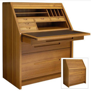 Scandinavia Furniture Metairie New Orleans Louisiana offers Contemporary &  Modern Furniture for your Living Room - SUN - JM 501 TEAK ROLL TOP DESK ...