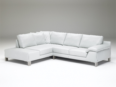Natuzzi Leather Sofa on Sectional   0 00 Skw Ws Sigma Se L 15cs Finish Grey Leather Natuzzi