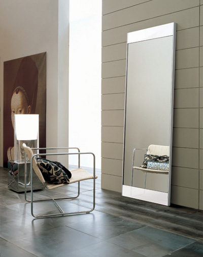 Exceptionnel Scandinavia Furniture Metairie New Orleans Louisiana Offers Contemporary U0026 Modern  Furniture For Your Living Room   ALF   MANHATTAN GLOSSY WHITE FLOOR MIRROR  ...